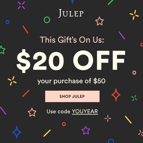 Julep Maven $20 off $50 Coupon