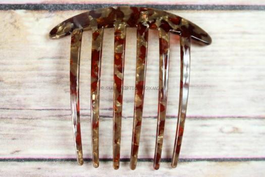 Mahogony Granite Side Comb