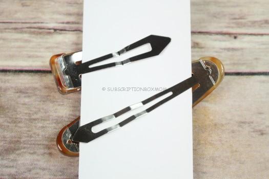 Misty Brown Geo Hair Clip Set