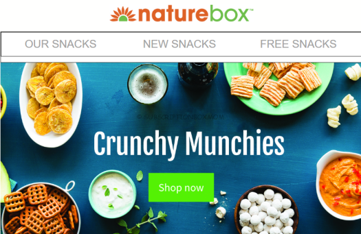 Naturebox Coupon - 3 FREE SNACKS