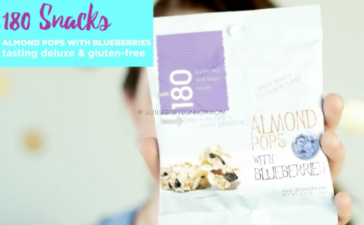 180 Snacks Almond Pops with Blueberries