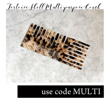 Tortoise Shell Multi Purpose Comb