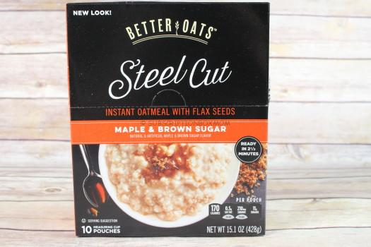 Better Oats Steel Cut Instant Oatmeal with Flax in Maple & Brown Sugar