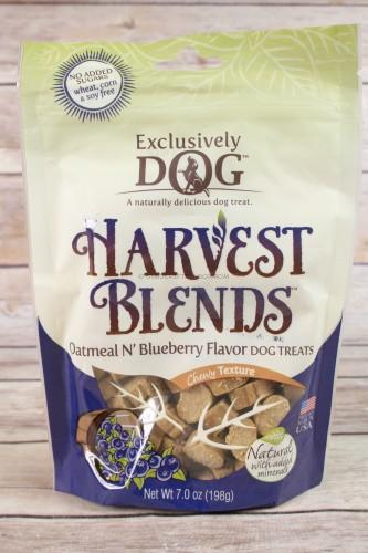 Exclusively Dog Harvest Blends Oatmeal N'Blueberry Dog Treats