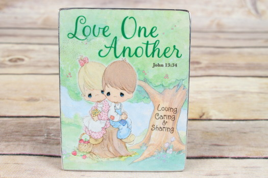 "Precious Moments ""Love One Another"" Easel Plaque"