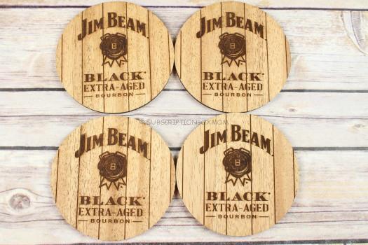 Woodchuck USE Jim Beam Wooden Coasters