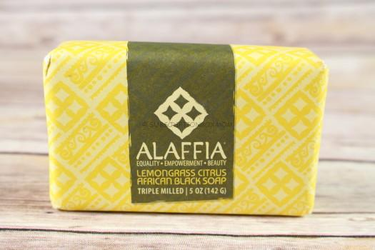 Alaffia Lemongrass Citrus African Black Soap. Togo