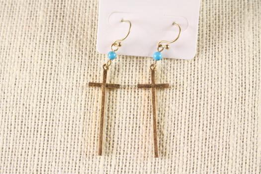 Cruz Cross Earrings