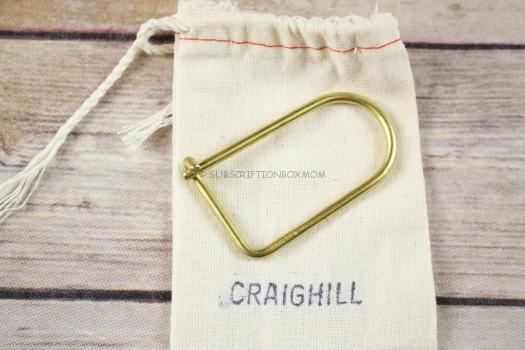 Craighill Wilson Brass Keyring