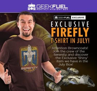 exclusive FIREFLY shirt.