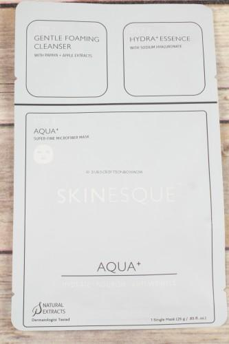 Skinesque 3-Step Aqua + Super Fine Mask