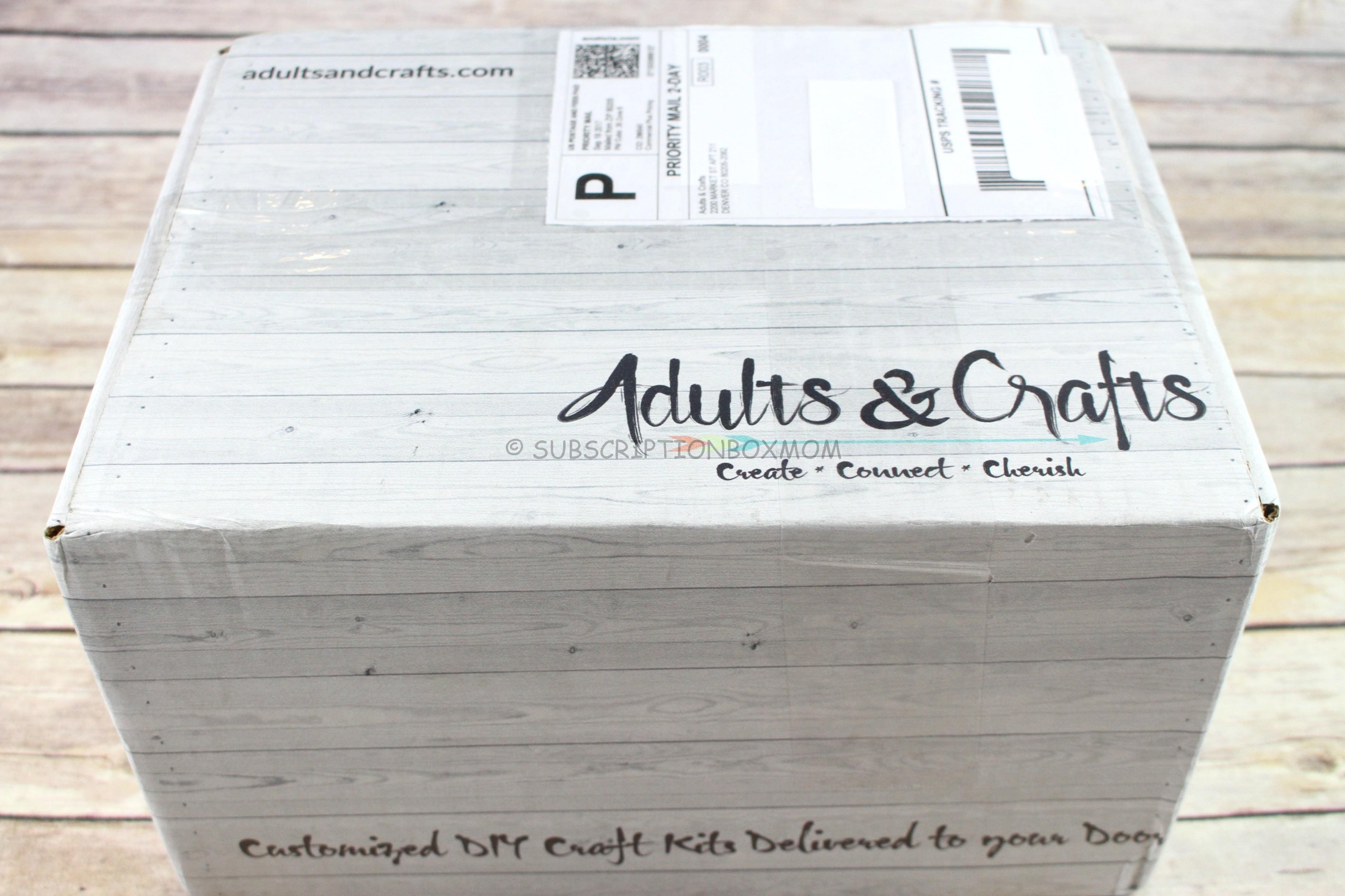 Adults crafts september 2017 review coupon for Craft subscription box for adults