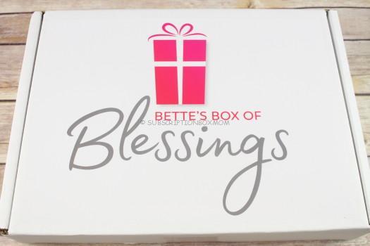 Bette's Box of Blessings September 2017 Review
