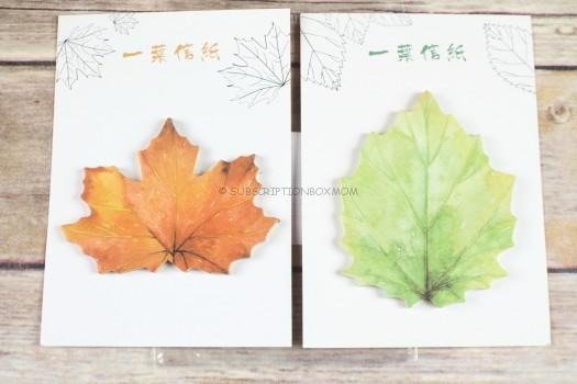 Creative Maple Leaf Post It Notes