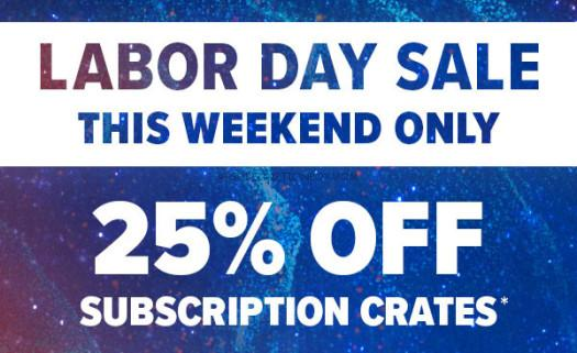 Loot Crate Labor Day 2017 Coupons