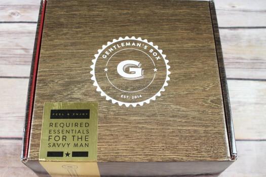 Gentleman's Box October 2017 Review