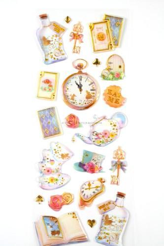 Raised Alice in Wonderland Stickers