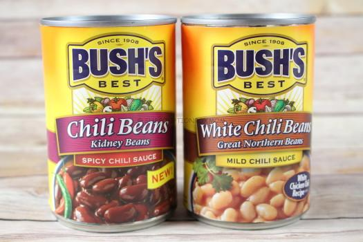 Bush's Best Spicy Chili Kidney Beans and Milk White Chili Beans