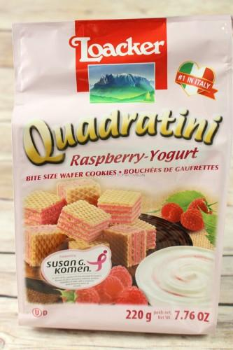 Loacker Quadratini Raspberry Yogurt Wafer Cookies