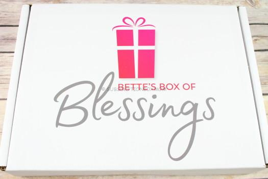 Bette's Box of Blessings October 2017 Review