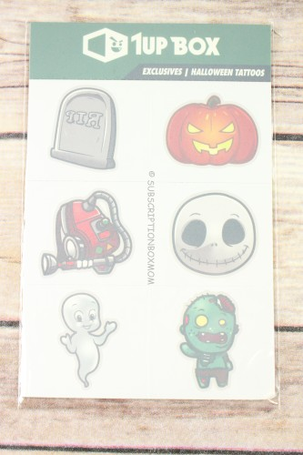 1Up Box Halloween Tattoos