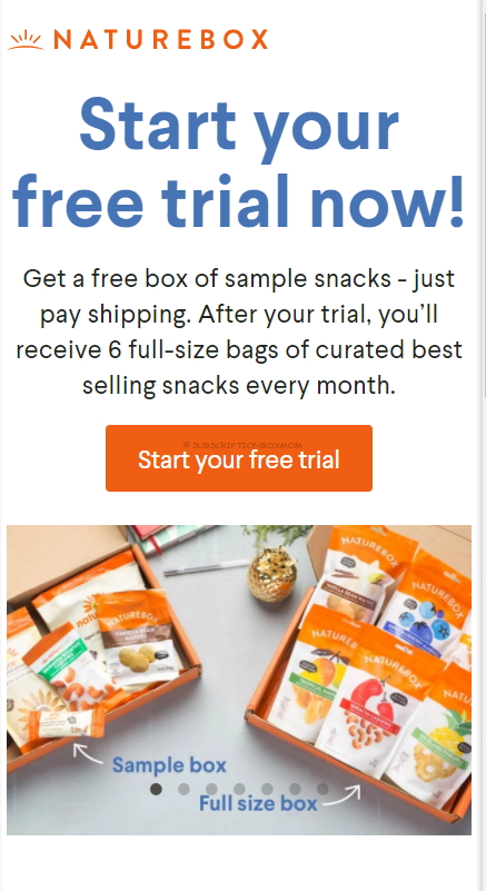 free naturebox trial