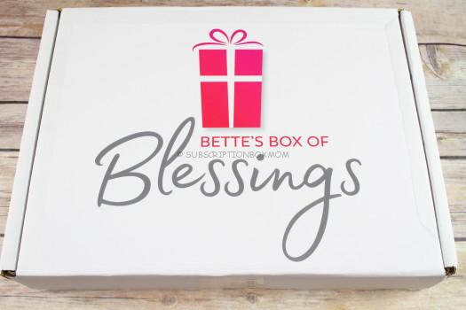 Bette's Box of Blessings November 2017 Review