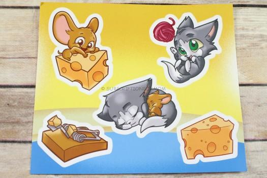 Cat and Mouse Sticker Set