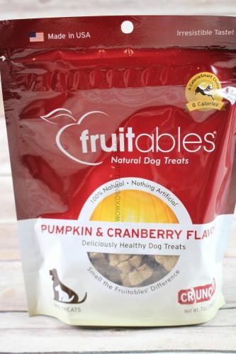 Fruitables Pumpkin & Cranberry Flavor Dog Treats