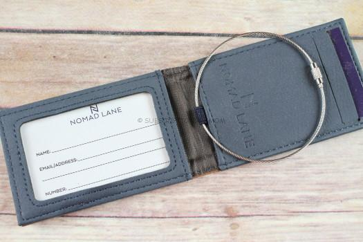 """Nomad Lane """"Just Go"""" Two in one Luggage Tag & Wallet"""