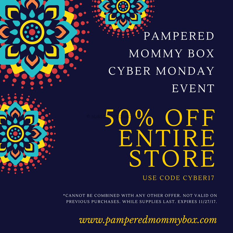Pampered Mommy Box Cyber Monday 2017 Coupon