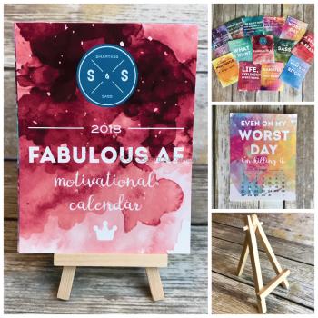 2018 Fabulous AF Desk Calendar