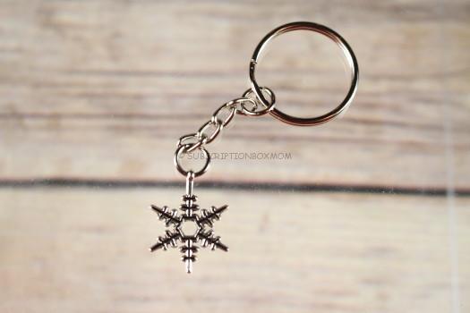 Magnolia Crate Snowflake Keychain