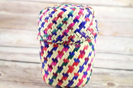Mini Palm Leaf Basket