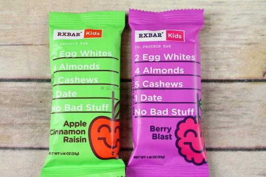 RXBAR Apple Cinnamon Raisin Kids + Berry Blast Protein Bars