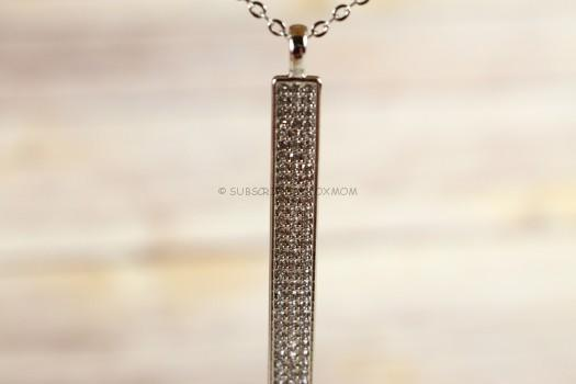 Chloe + Isabel Pave Bar Long Pendant Necklace