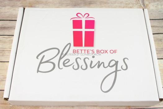 Bette's Box of Blessings December 2017 Review