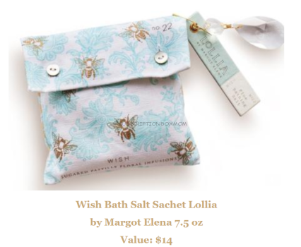 Margot Elena Wish Bath Salt Sachet Lollia