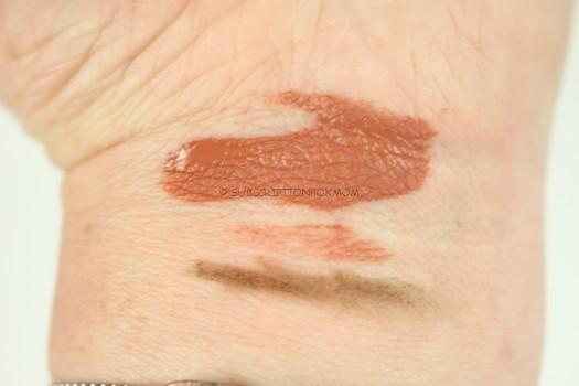 lipstick and eyeliner