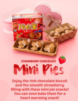 Lotte Strawberry Chocolate Mini Pies