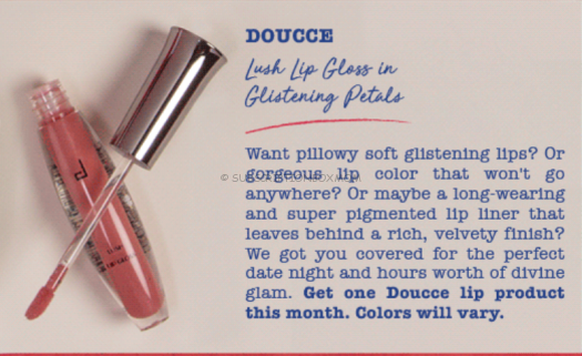 DOUCCE Lush Lip Gloss in Glistening Petals