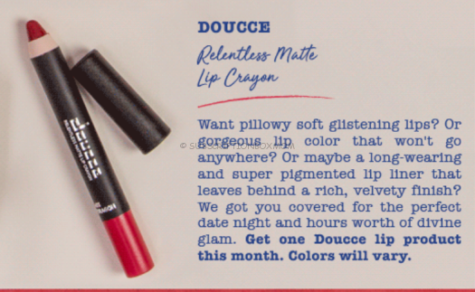 DOUCCE Relentless Matte Lip Crayon