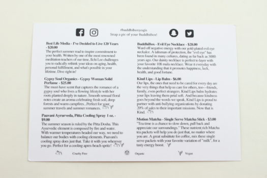 BuddhiBox Yoga June 2018 Review