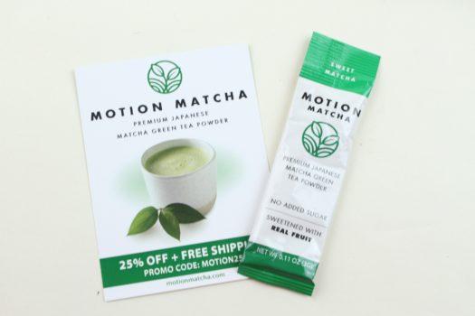 Motion Matcha Single Serve Matcha Stick