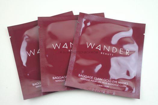 Wander Beauty Baggage Claim Gold Eyes Masks