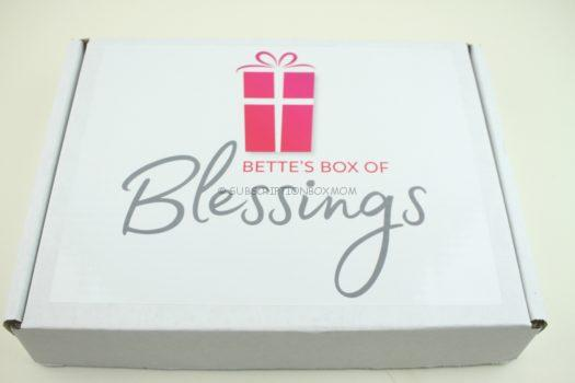 Bette's Box of Blessings August 2018 Review