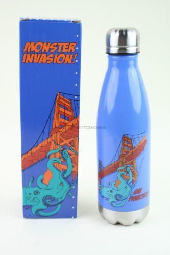 SF Mercantile Octopus on the Golden Gate Bridge Water Bottle