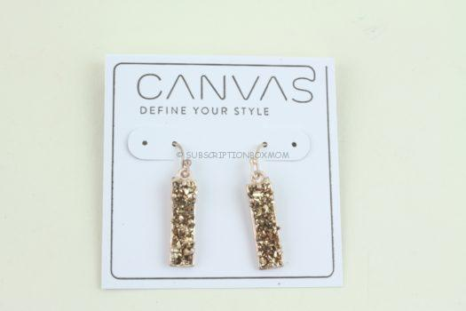 Canvas Druzy Earrings