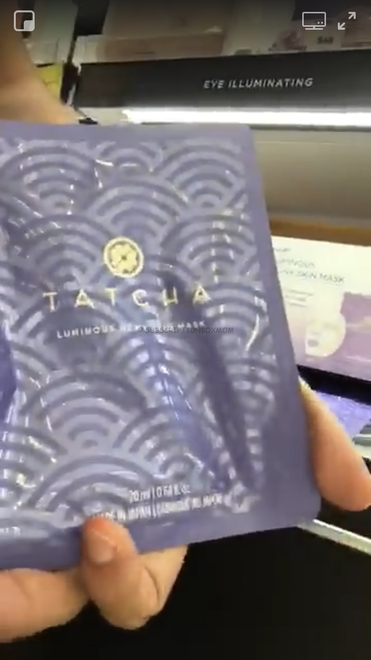 TATCHA Luminous Dewy Skin Sheet Mask
