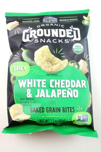 Organic Grounded Snacks White Cheddar & Jalapeno Baked Grain Bites